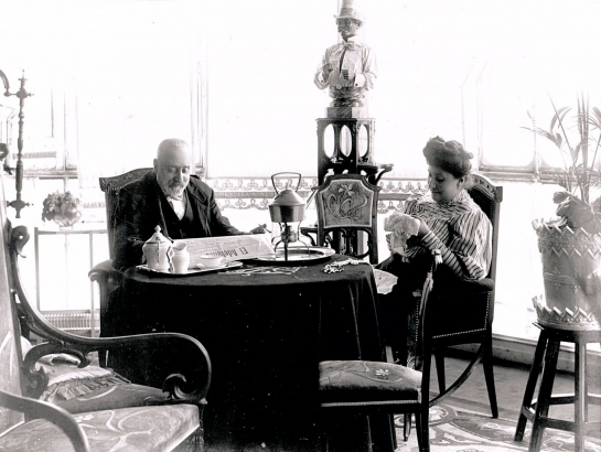 D. Miguel de Lis y su mujer, Dolores Primo